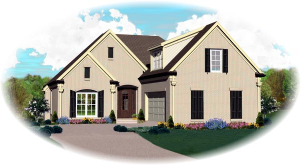 Traditional House Plan 46495 Elevation