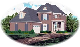Traditional House Plan 46506 Elevation