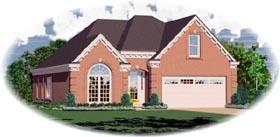 European House Plan 46509 Elevation