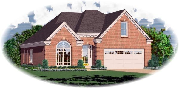 European House Plan 46509 Elevation