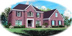 Traditional House Plan 46512 with 3 Beds, 3 Baths, 2 Car Garage Elevation