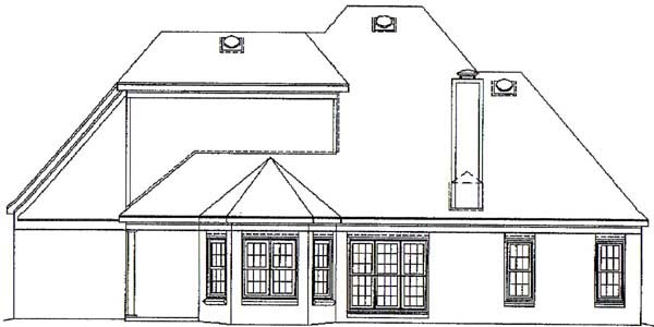 Tudor House Plan 46514 Rear Elevation