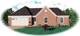 Traditional House Plan 46516 with 3 Beds, 2 Baths, 2 Car Garage Elevation