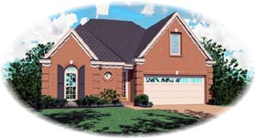 Traditional House Plan 46518 with 3 Beds, 2 Baths, 2 Car Garage Elevation