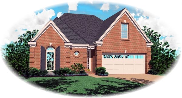 Traditional House Plan 46518 Elevation