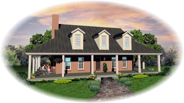 Country House Plan 46522 Elevation
