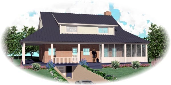 Cape Cod House Plan 46523 Rear Elevation