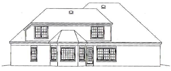 Cape Cod House Plan 46524 Rear Elevation