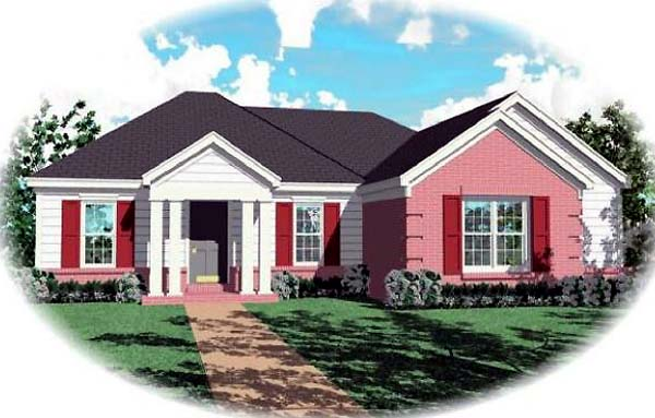 Ranch House Plan 46525 Elevation
