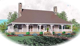 House Plan 46526 | Country Style Plan with 2417 Sq Ft, 3 Bedrooms, 3 Bathrooms Elevation