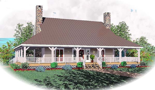 Country House Plan 46526 Elevation