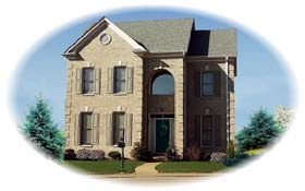 House Plan 46528 Elevation