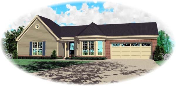 Traditional House Plan 46529 Elevation