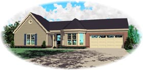 Ranch House Plan 46530 Elevation