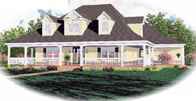 Country House Plan 46532 Elevation