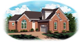 Traditional House Plan 46534 with 2 Beds, 2 Baths, 2 Car Garage Elevation