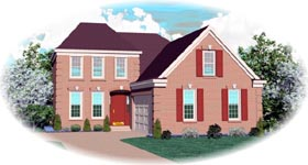 European House Plan 46535 Elevation