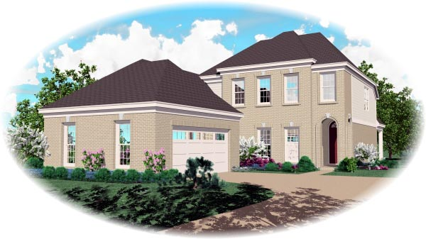European House Plan 46536 Elevation