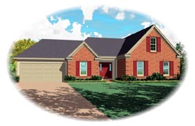Traditional House Plan 46538 with 3 Beds, 2 Baths, 2 Car Garage Elevation