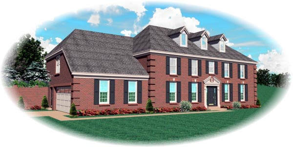 Colonial House Plan 46539 Elevation