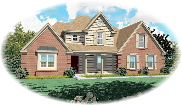 Traditional House Plan 46543 Elevation