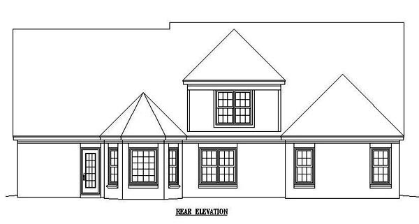 Colonial House Plan 46552 Rear Elevation