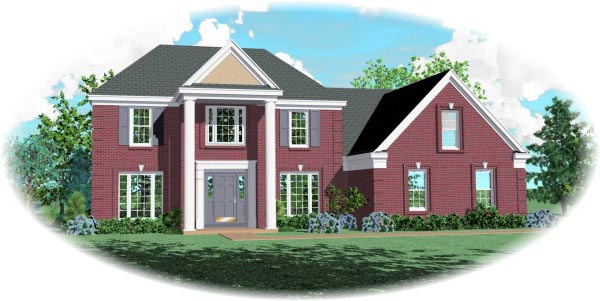 Colonial House Plan 46553 Elevation