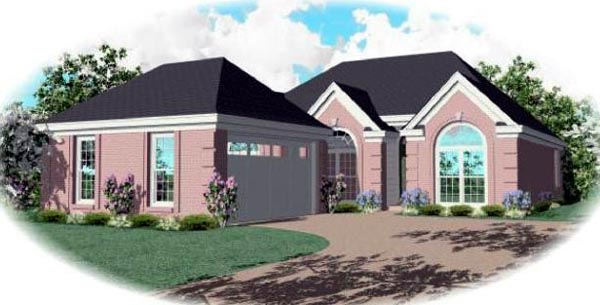 Ranch House Plan 46563 Elevation