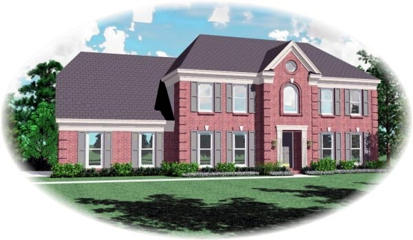 Colonial House Plan 46567 Elevation