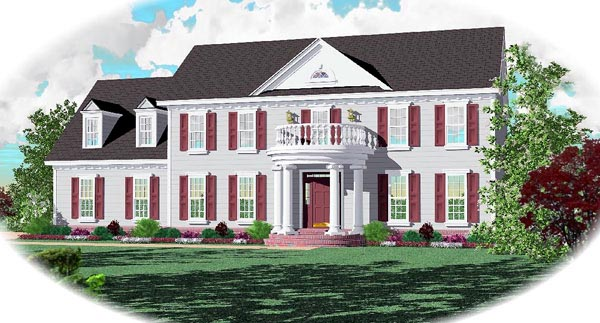Colonial House Plan 46569 Elevation