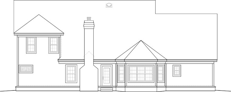 Colonial House Plan 46569 Rear Elevation