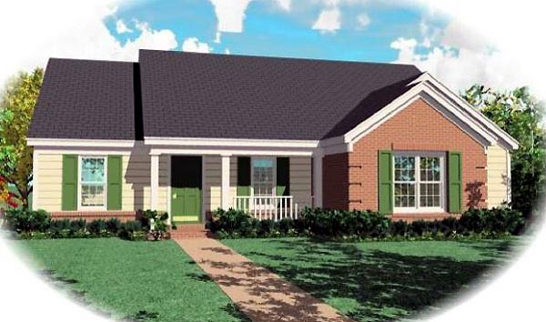 Ranch House Plan 46570 Elevation