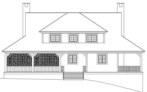 Country House Plan 46571 Rear Elevation