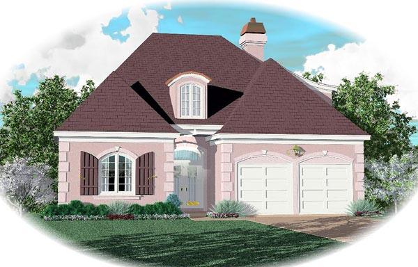 European House Plan 46573 Elevation