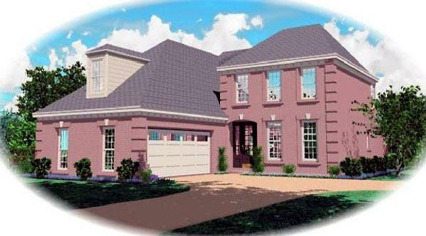 Traditional House Plan 46574 Elevation
