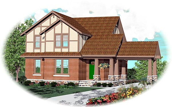 Craftsman House Plan 46577 Elevation
