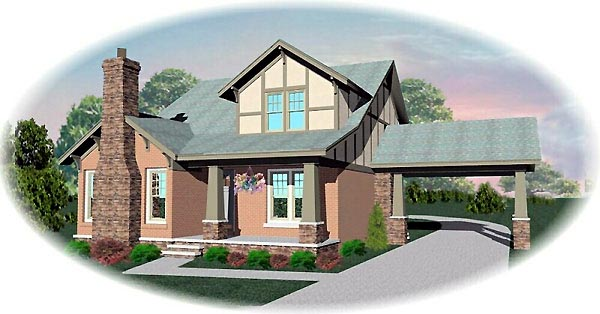 Craftsman House Plan 46578 Elevation
