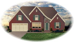 House Plan 46580 | Traditional Style Plan with 2083 Sq Ft, 3 Bedrooms, 3 Bathrooms, 2 Car Garage Elevation
