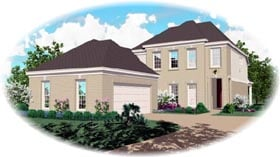 House Plan 46582 with 3 Beds, 3 Baths, 2 Car Garage Elevation