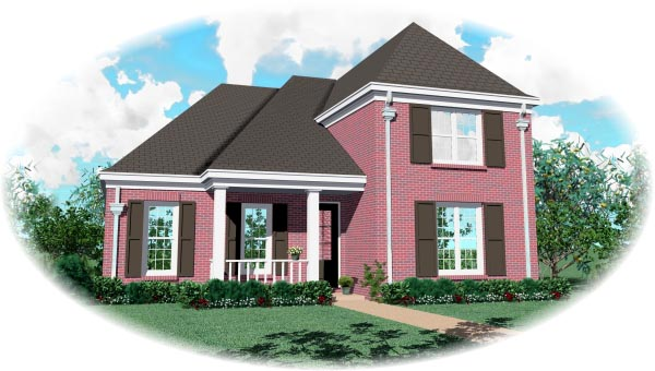 Traditional House Plan 46585 Elevation