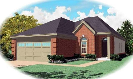 Traditional House Plan 46588 Elevation