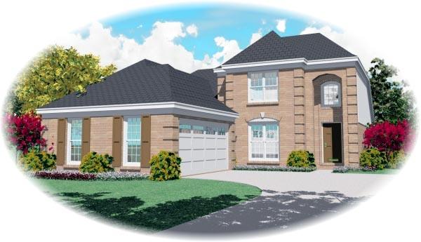 European House Plan 46589 Elevation