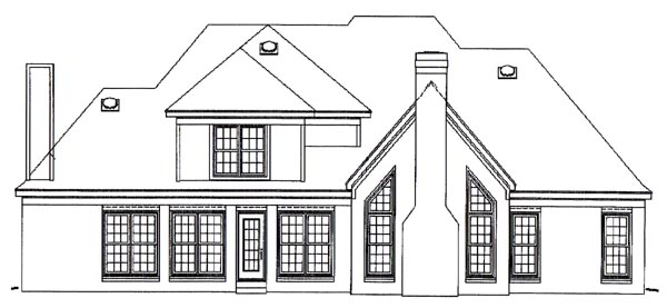 Traditional House Plan 46597 Rear Elevation
