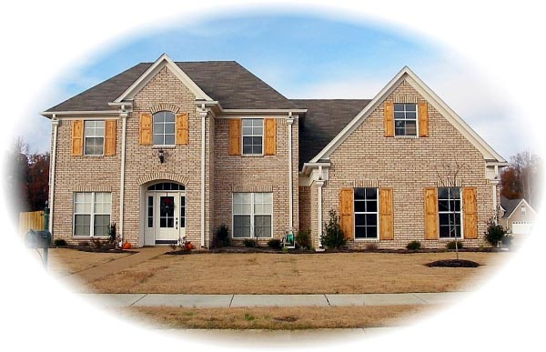 European House Plan 46600 with 4 Beds, 3 Baths, 2 Car Garage Elevation