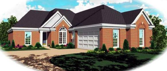 Traditional House Plan 46602 Elevation
