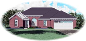 Traditional House Plan 46603 Elevation