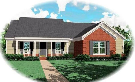 House Plan 46609 Elevation