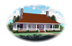 Country House Plan 46610 Elevation