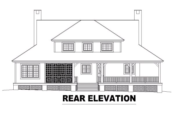 Country House Plan 46610 Rear Elevation