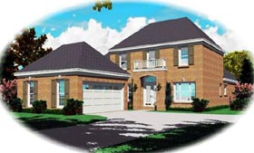 Traditional House Plan 46615 Elevation